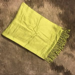Accessories - Lime Green Pashmina Wrap